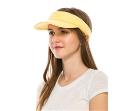 Wholesale Terry Cloth Sun Visor Womens Beach Hat