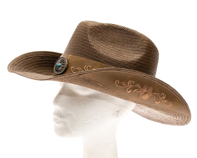 SKU  1796. Smooth handwoven toyo straw cowboy hat. a40407c569aa