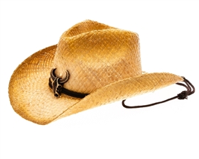 afb57444a30 wholesale raffia straw cowgirl hats - longhorn buckle