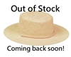 wholesale Flat Top Jute Straw Hat w/ Chin Cord