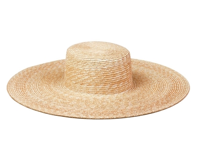 wholesale Wheat Straw Wide Brim Boater Hat