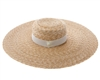 fine straw wide brim boater with band