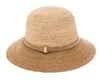 Wholesale Fine Crochet Raffia Bucket Hat Womens Beach Hat