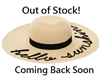 Wholesale Hello Sunshine Embroidery Hat Womens Beach Hat