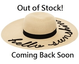 Wholesale Hello Sunshine Embroidery Hat Womens Beach Straw Sun Hat