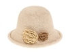 Wholesale Fine Crochet Cloche Hat w/ Flowers