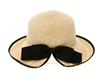 wholesale Split Back Sun Hat w/ Bow