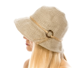 wholesale Hemp Braid Cloche w/ Coconut Ring