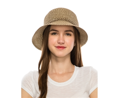 wholesale Heathered Straw Cloche