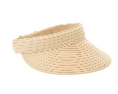 wholesale Sewn Ribbon Sun Visor