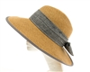 wholesale Split Back Sun Hat w/ Linen Bow