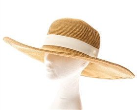 5-inch Brim Straw Sun Hat with Band