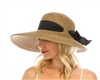 Wholesale Summer Hats - Asymmetrical Straw Lampshade Hat - Womens Garden Headwear