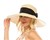 Wholesale Downbrim Straw Hat w/ Wide Bow