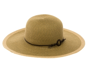 Wholesale Earth Tones Sun Hat w/ Ring