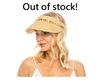 wholesale beach hats - Straw Clip Visor w/ Multicolor Band