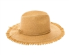 wholesale beach hats - Panama Hat w/ Frilled Edge