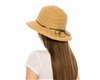 wholesale beach hats - Straw Bucket Hat w/ Colorful Straw Tie