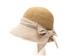Wholesale Crochet Raffia & Fabric Cloche Hat