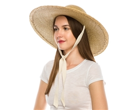 Wholesale Rush Straw Hats Wide Brim Sun Hats - Los Angeles Straw Hat Wholesaler USA