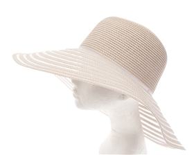 1884 Straw+Mesh Downbrim Hat