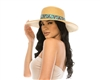 1886 Sun Hat w/ Floral Embroidery Band