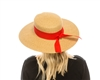 1889 Sun Hat w/ Fold & Twist Ribbon