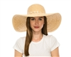 raffia beach hat w/ shell trim
