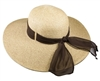 upf 50 hats wholesale - wide brim straw beach hat with ribbon