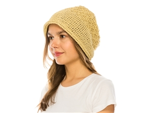 wholesale straw cloche roller hats for women