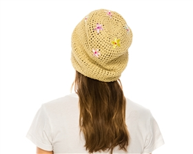 bulk hats - straw roller hats closeouts