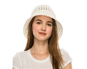 wholesale 2 dollar hand crochet straw sun hat