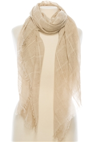 wholesale Stonewash Grid Cotton Scarf
