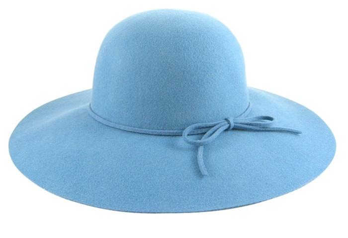 2036 Pink Wool Felt Floppy Hat