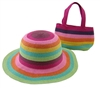 wholesale girls purse hat set rainbow