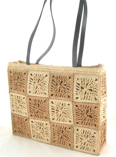 wholesale paper straw crochet tote