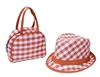 wholesale orange kids hats purse sets