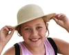 wholesale child's woven sun hat lot of 12