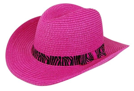 wholesale kids cowboy hat  animal print band