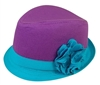 wholesale child's 2-tone fabric fedora