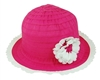 wholesale kids sun hats ribbon crusher  flower