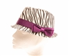 wholesale girls fedora hats zebra print fedora
