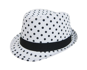 wholesale kids polka dot fedoras