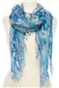 Wholesale Cotton Summer Scarves - Paint Pattern