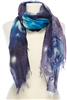 Wholesale Cotton Summer Scarves - Galaxy Print