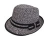 wholesale junior tweed straw fedora