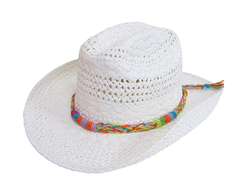 2106 Handwoven Teen Cowboy Hat with Rainbow Braid 7b1e66dba21f