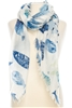 Wholesale Cotton Summer Scarves - Fish