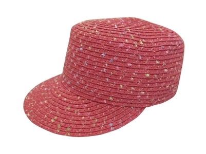 1264c5bf bulk kids caps - confetti straw cadet hats - wholesale girls straw hats -  los angeles