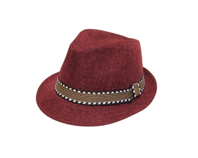 wholesale kids fedora hat linen band
